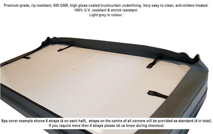 underside of spa cover lining -light grey