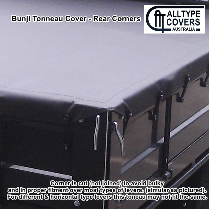 Alltype Covers Australia - rear corners bunji tray tonneau Cover