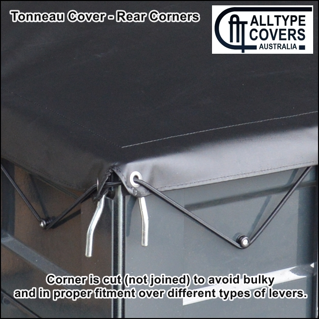 Alltype Covers Australia - Stretch-Cord Custom Tray Tonneau Cover Tarp Corner fitment