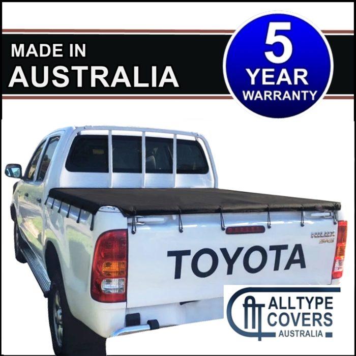 Toyota Hilux SR Dual Cab (April 2005-Sept 2015) Ute Bunji Tonneau Cover Tarp